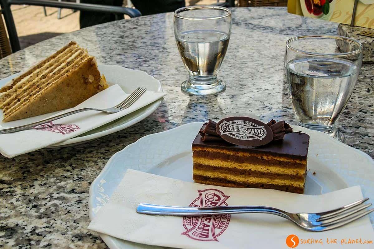 Pastel típico, Gerbaud, Budapest, Hungría | Qué ver y hacer en Hungría en 3 días