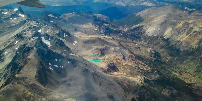 Vista Ushuaia desde avion