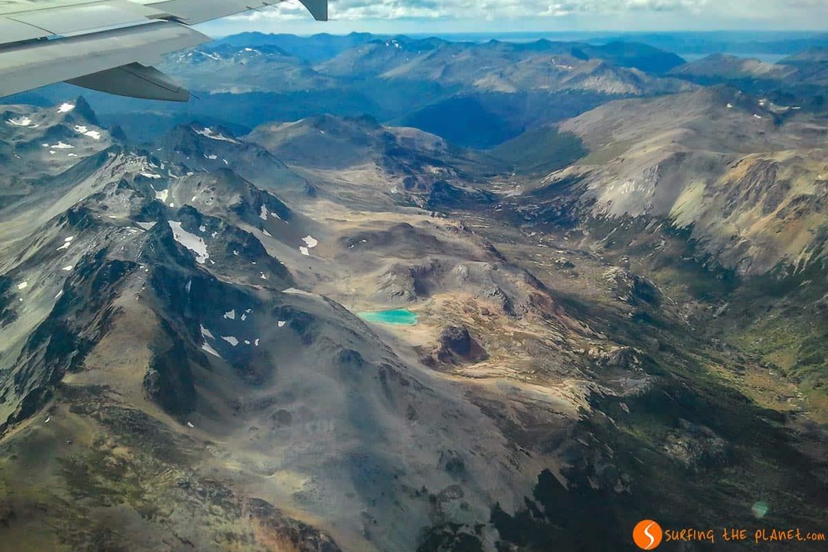 Vista Ushuaia desde avión | Como reclamar un vuelo cancelado