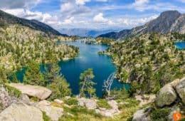 Vista de Refugio JM Blanc, Parque Nacional de Aigüestortes, Cataluña