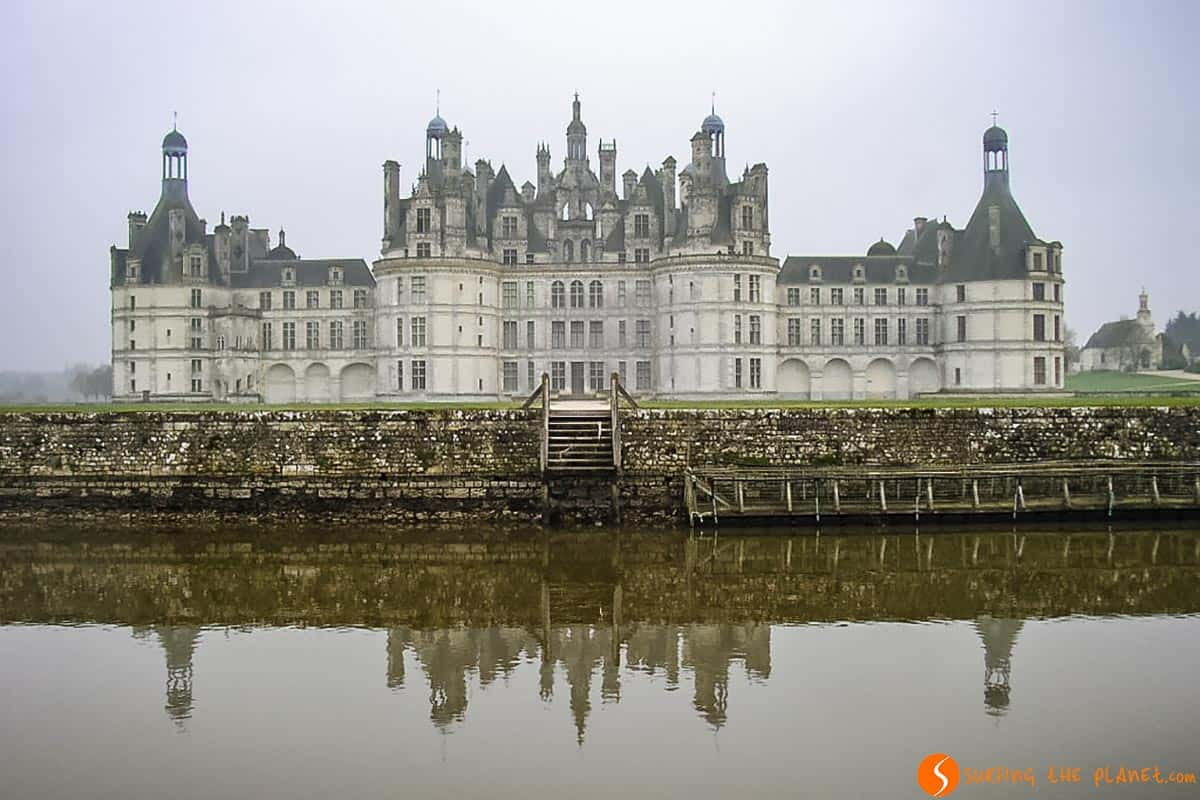 Reflejo en Castillo de Chambord, Valle del Loira, Francia