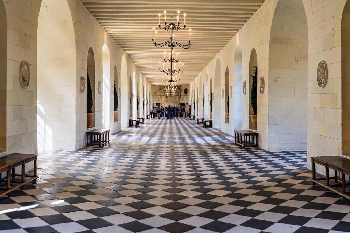 Galería, Castillo de Chenonceau, Valle del Loira