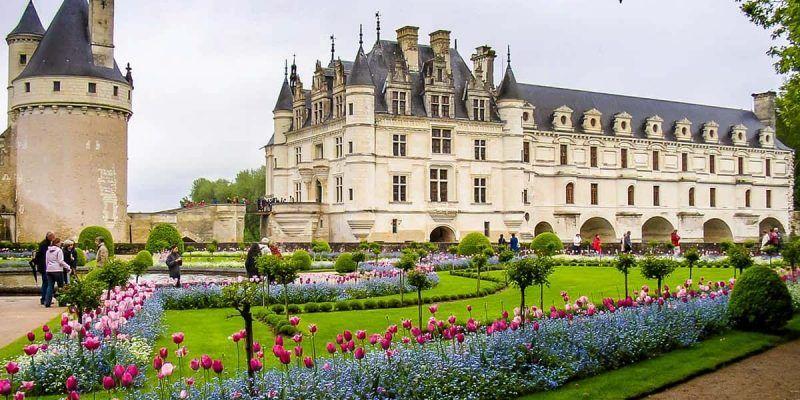 Jardín, Castillo de Chenonceaux, Valle del Loira, Francia