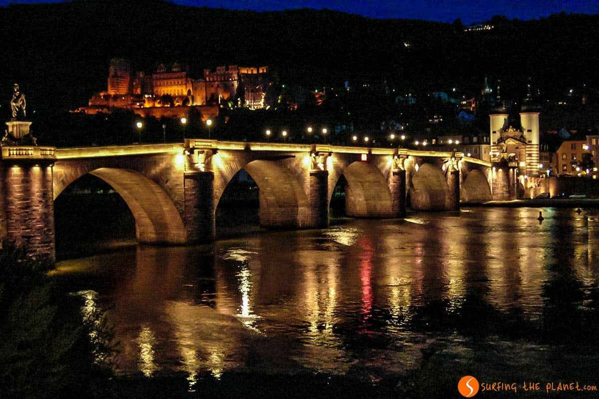 Lights of the Castle and Old Bridge, Heidelberg, Germany