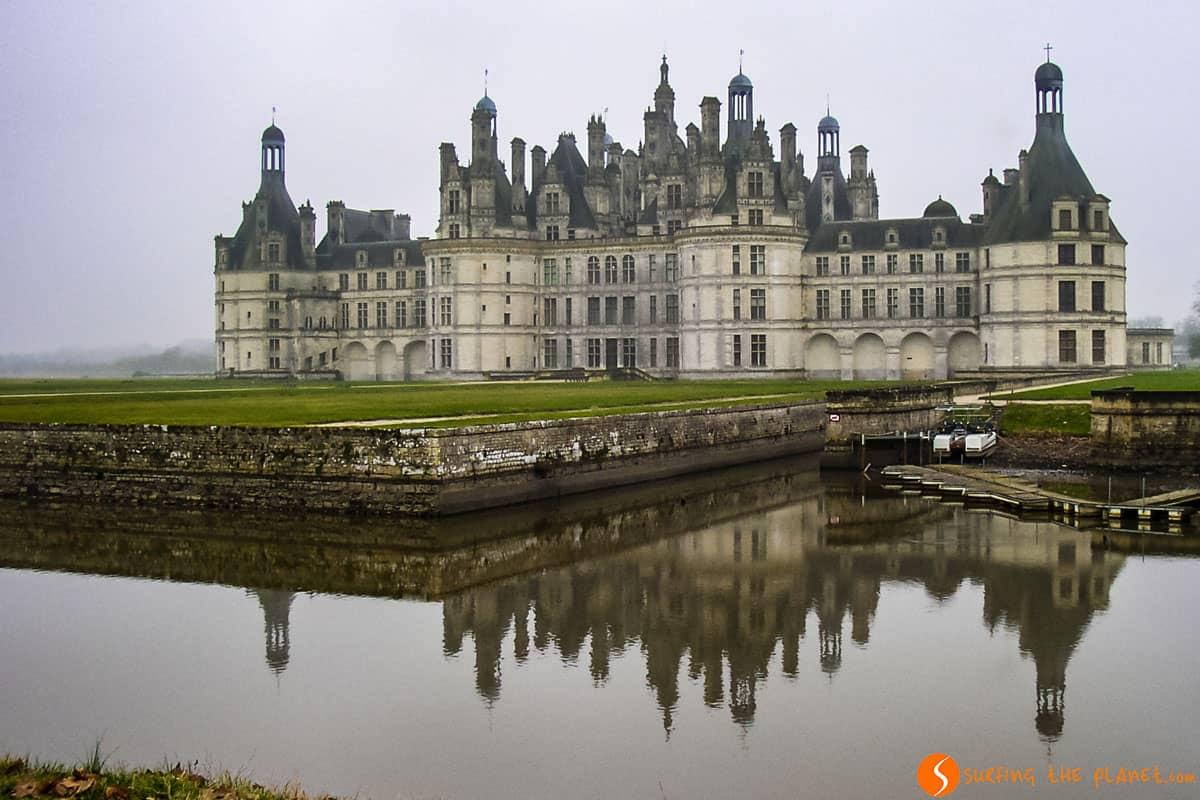 Reflejo en la esquina, Castillo de Chambord, Valle del Loira