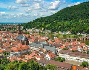 Vistas desde el Castillo, Heidelberg, Alemania
