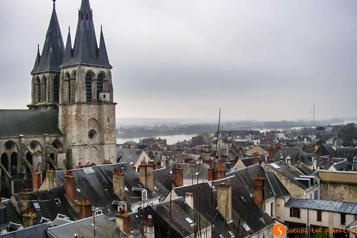 Vista ciudad, Castillo Blois, Francia
