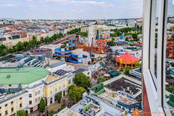 Vista desde la Noria, Parque del Prater, Viena