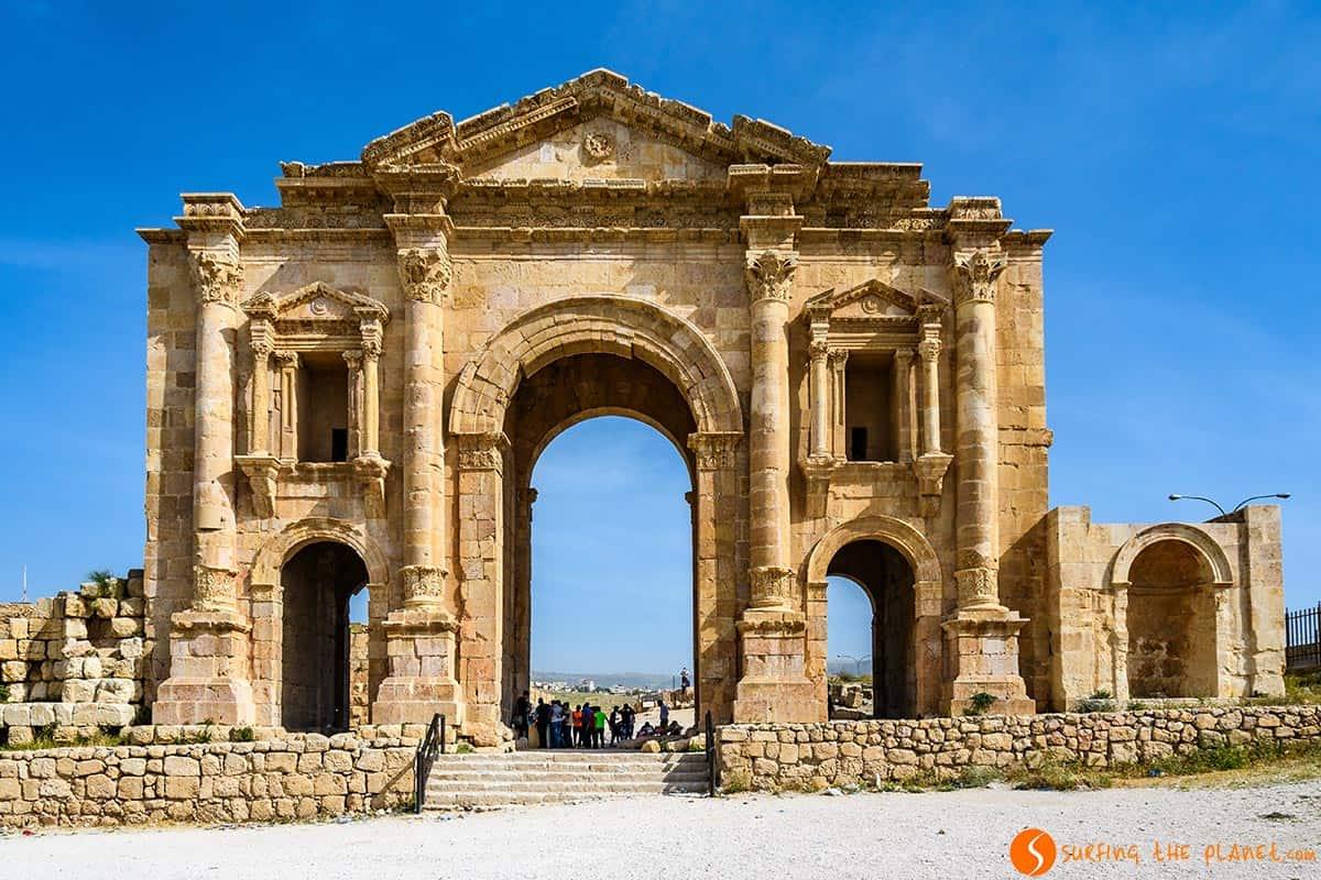 Arco del Emperador Adriano, Jerash, Jordania