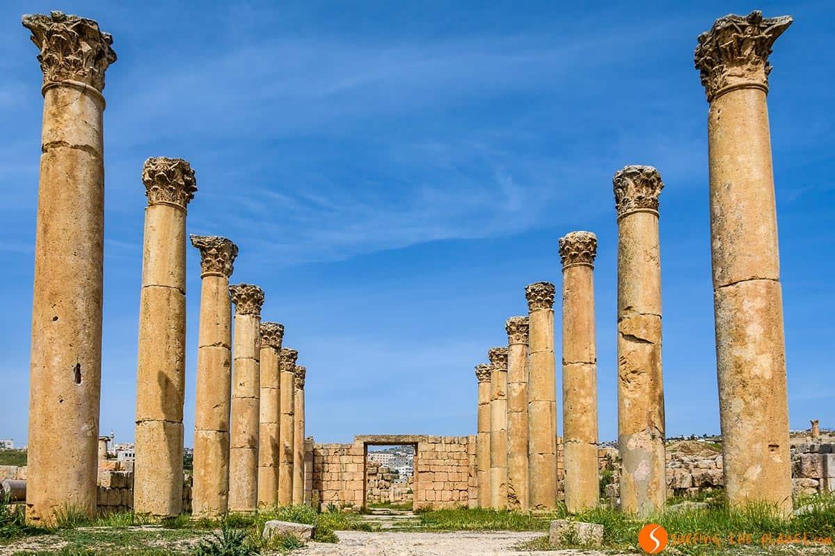 Columnas, Jerash, Jordania
