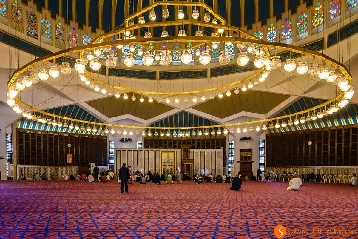 Interior, Mezquita Azul, Ammán, Jordania | Qué ver en Ammán en 1 día
