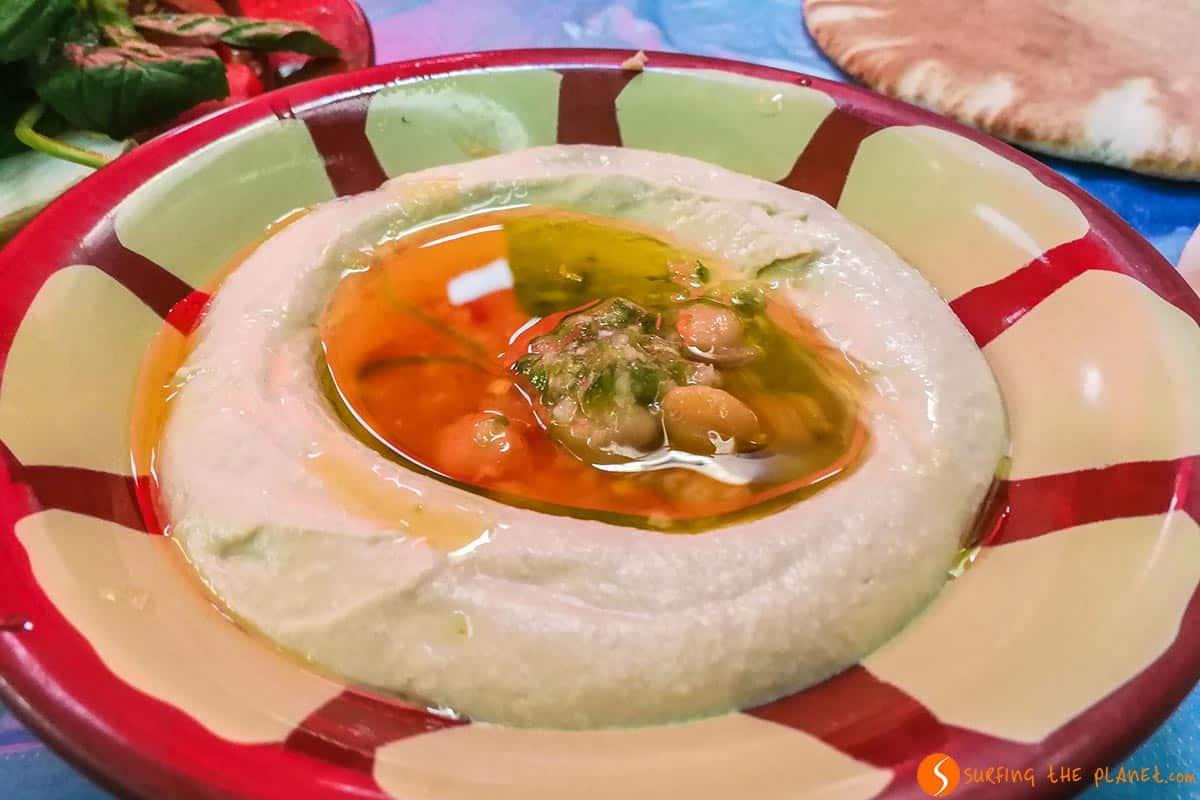 Humus, Restaurante Hashem, Ammán, Jordania | Qué ver y hacer en Ammán en 1 día