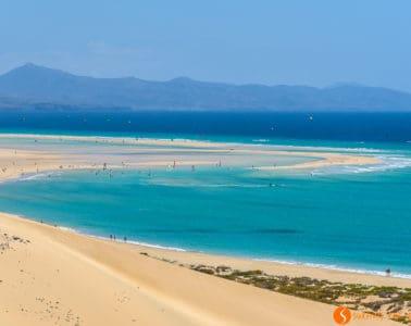Vista de Playa Sotavento, Playas de Jandía, Fuerteventura