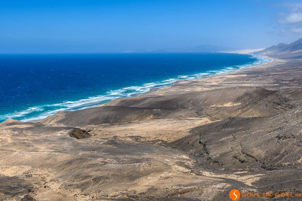 Vista de Playa de Cofete, Fuerteventura | Las playas más bonitas de Fuerteventura