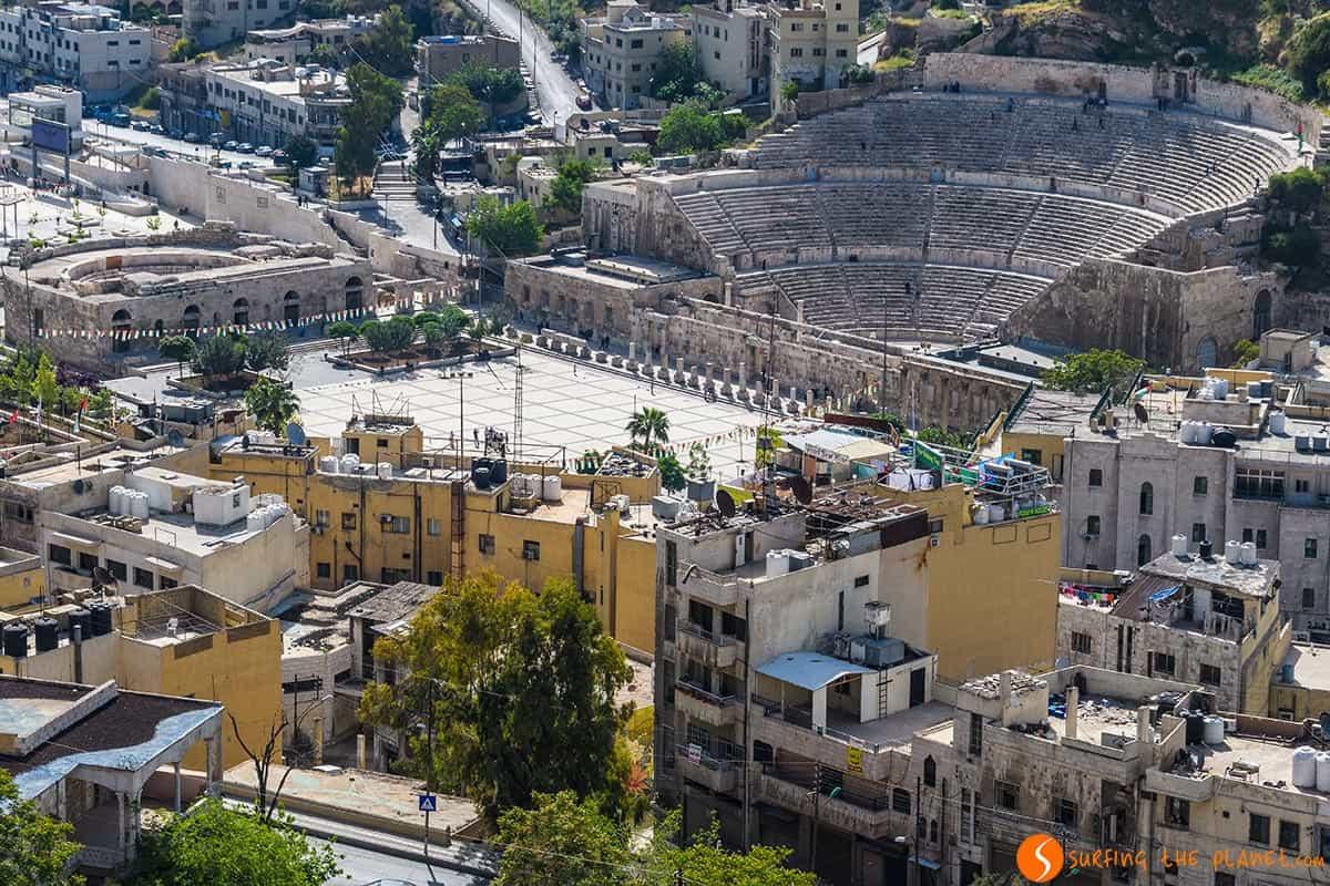 Vista Teatro Romano, Ammán, Jordania | Qué ver en Ammán
