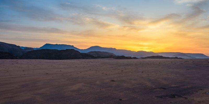 Amanecer, Desierto de Wadi Rum, Jordania