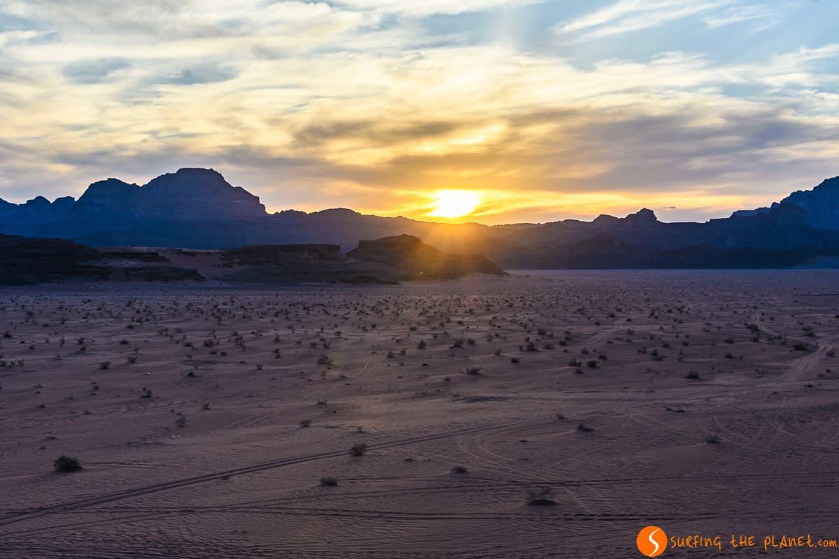 Atardecer, Desierto de Wadi Rum, Jordania