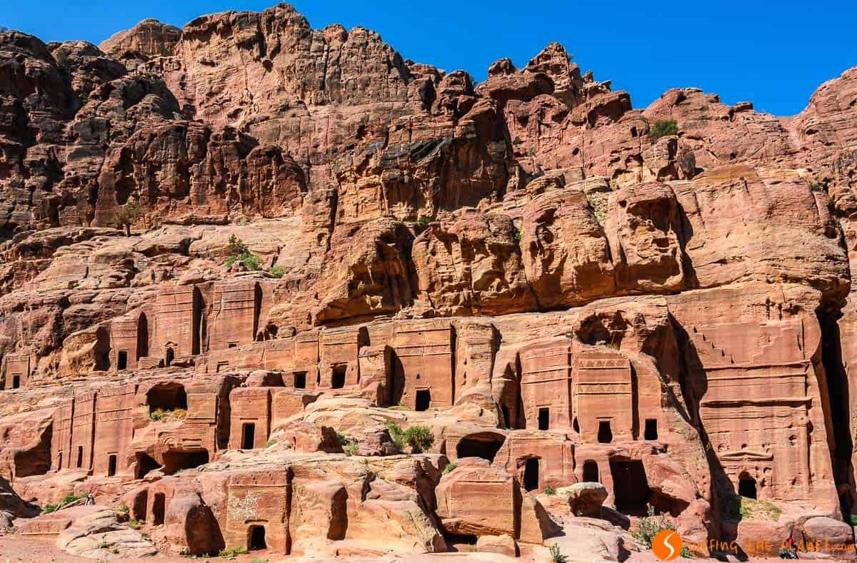 Calle de las Fachadas, Petra, Jordania | Qué ver en Petra en 1 día