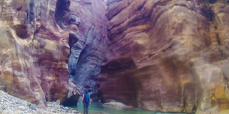 Cañón, Wadi Mujib, Jordania