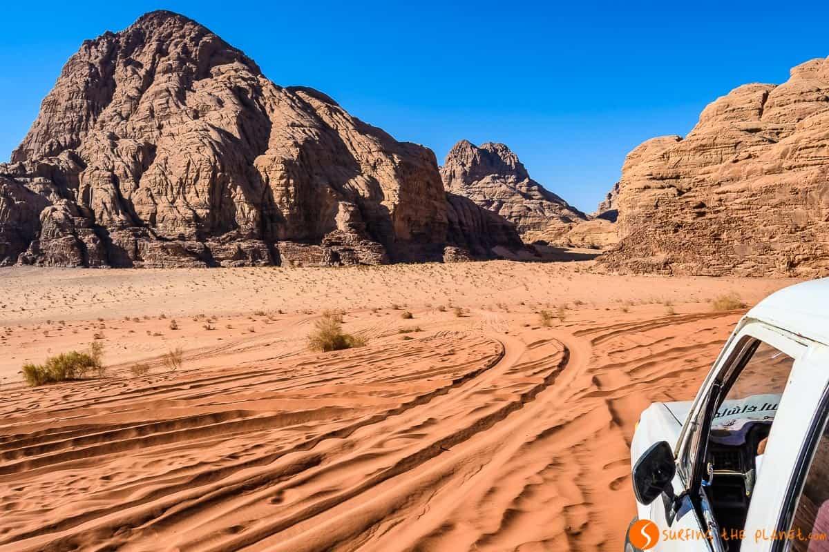 Excursión en 4x4, Desierto de Wadi Rum, Jordania