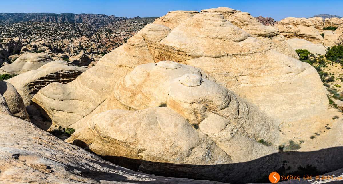 Formaciones de rocas, Reserva de la Biosfera de Dana, Jordania
