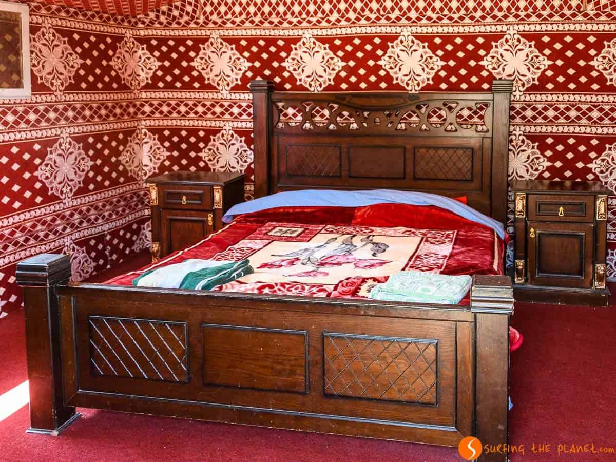 Habitación en el campamento, Desierto de Wadi Rum, Jordania