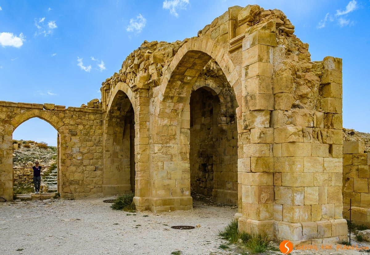 Interior, Castillo de Shobak, Jordania