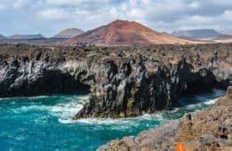 Los Hervideros cerca de El Golfo, Lanzarote, Islas Canarias