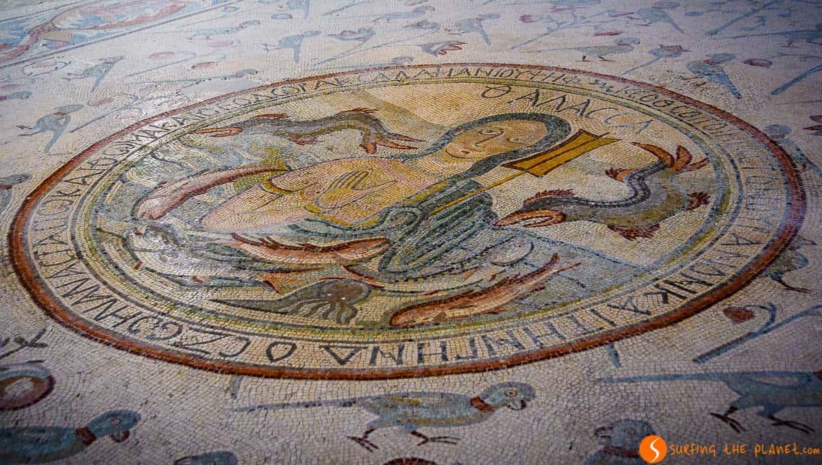 Mosaico, Iglesia de Apóstoles, Madaba, Jordania | Qué ver en Madaba