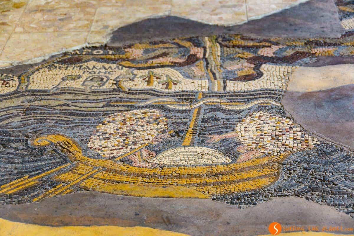 Mosaico, Iglesia San Jorge, Madaba, Jordania