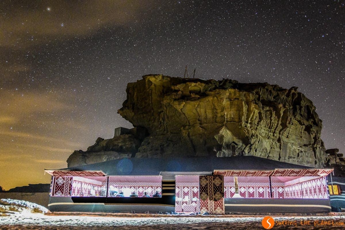 Noche con estrellas, Desierto de Wadi Rum, Jordania | Qué hacer en el Desierto de Wadi Rum