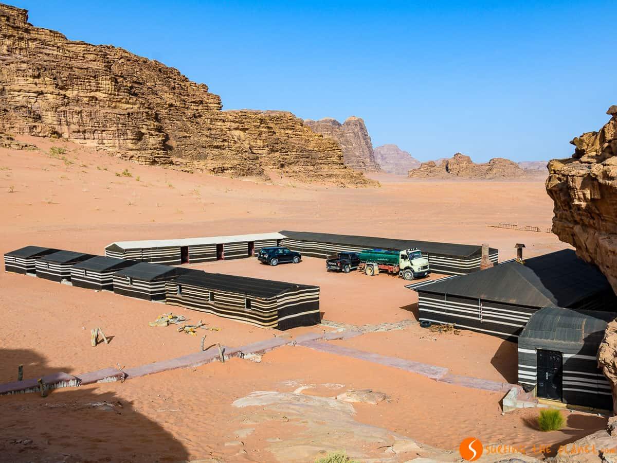 Campamento, Desierto de Wadi Rum, Jordania | Dónde dormir en Wadi Rum