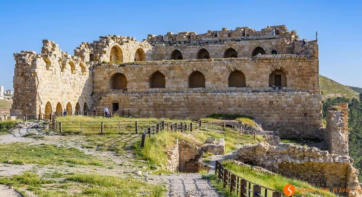Parte superior, Castillo De Kerak, Jordania | Castillos de las Cruzadas de Jordania