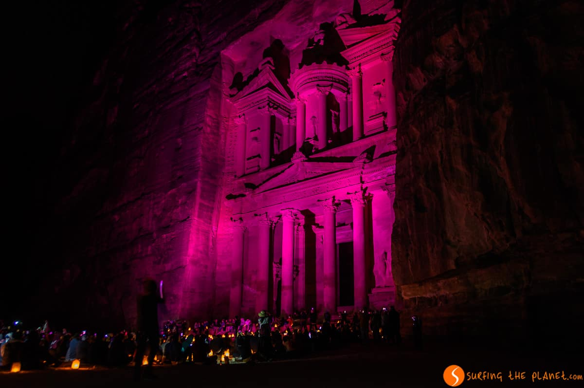 Luces de noche, Petra, Jordania