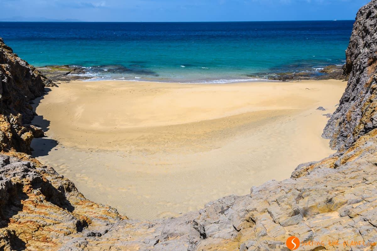 Playa virgen, Lanzarote, Islas Canarias, España
