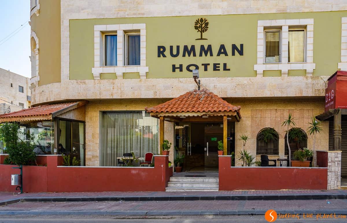 Terraza, Rumman Hotel, Madaba, Jordania