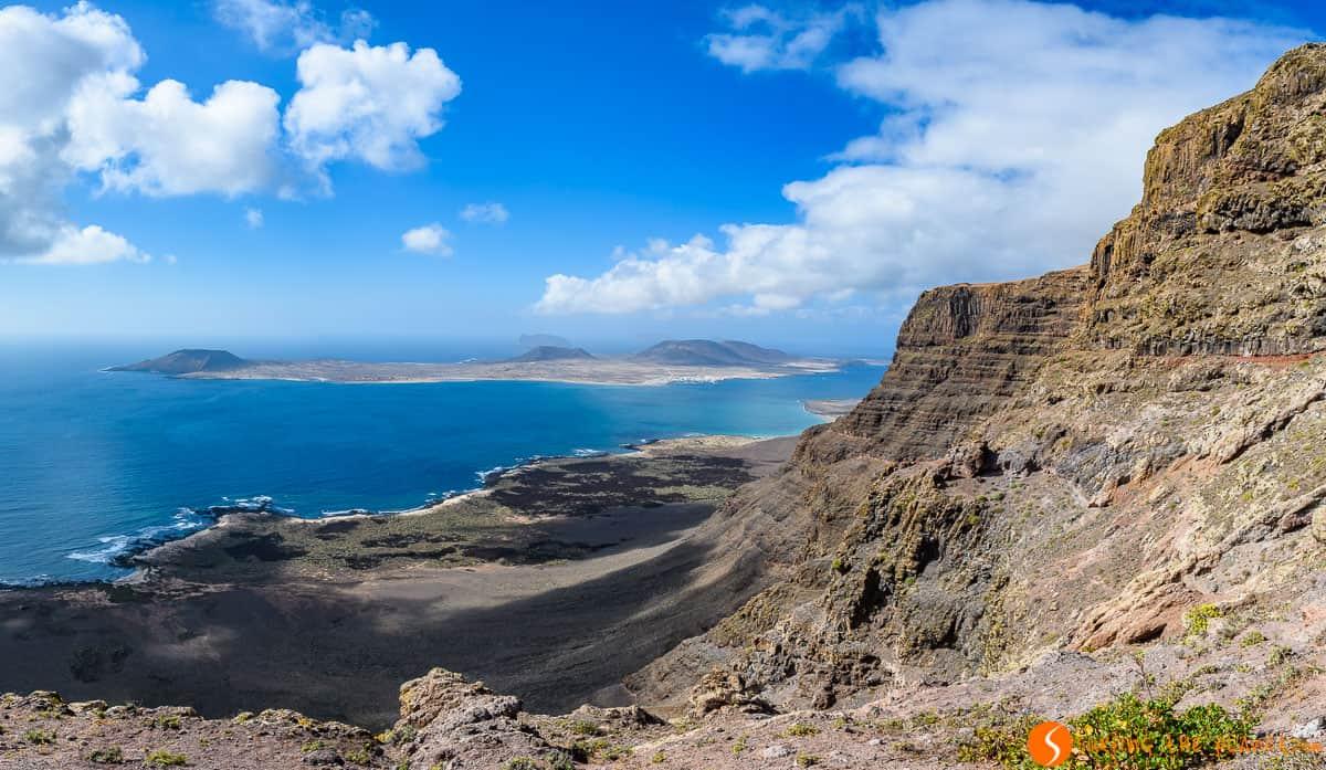Vista desde Guinate, Lanzarote, Islas Canarias, España
