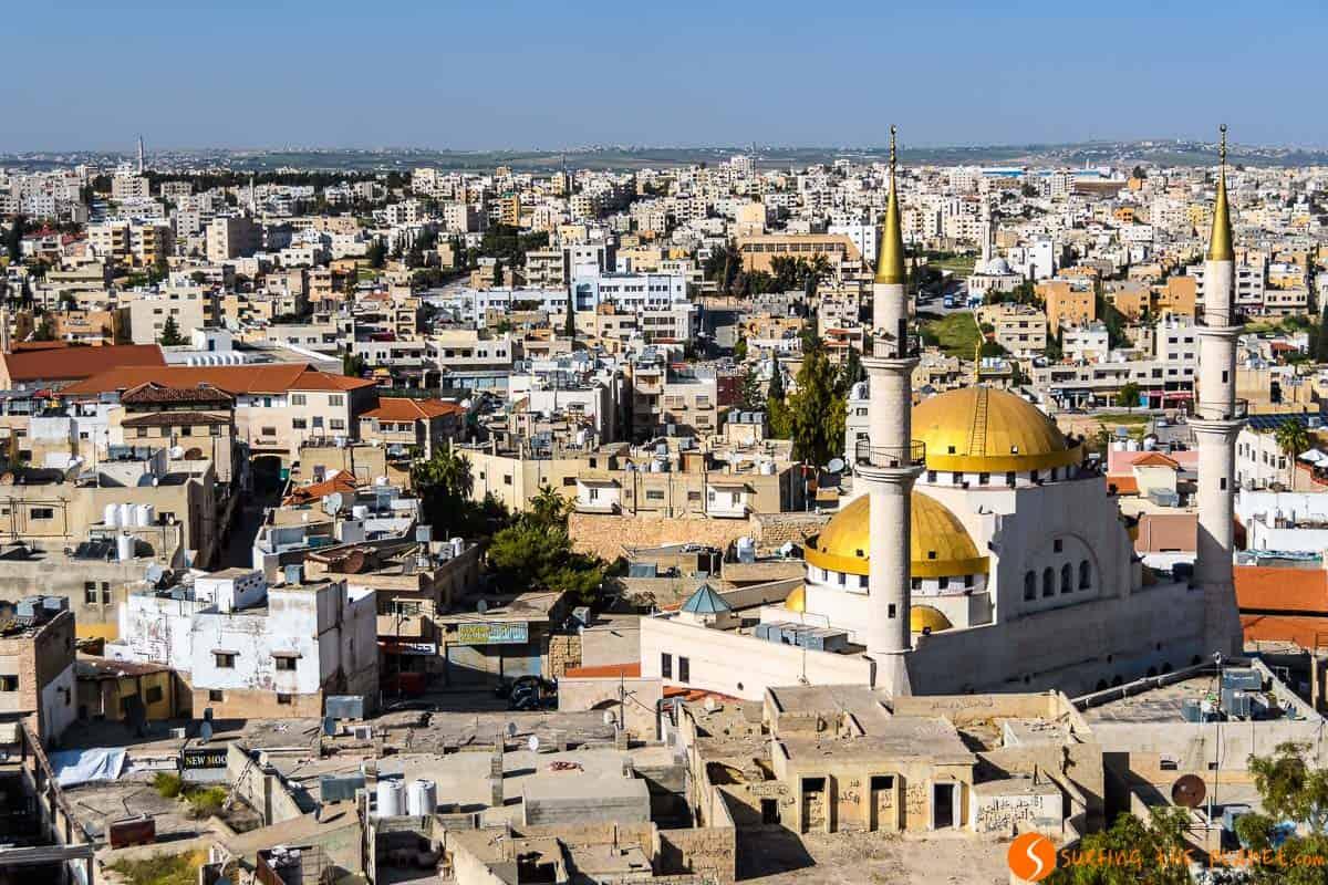 Vista desde la iglesia de San Juan Bautista, Madaba, Jordania