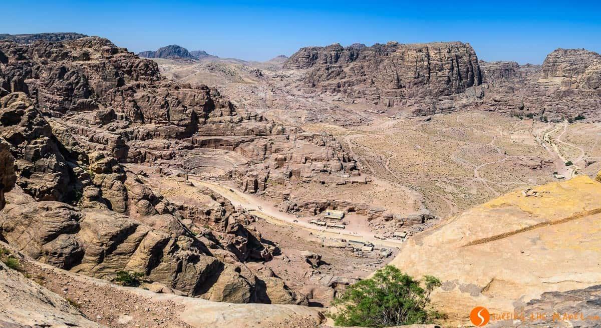 Vista Panorámica de Teatro, Petra, Jordania | Visitar Petra en 1 o 2 días