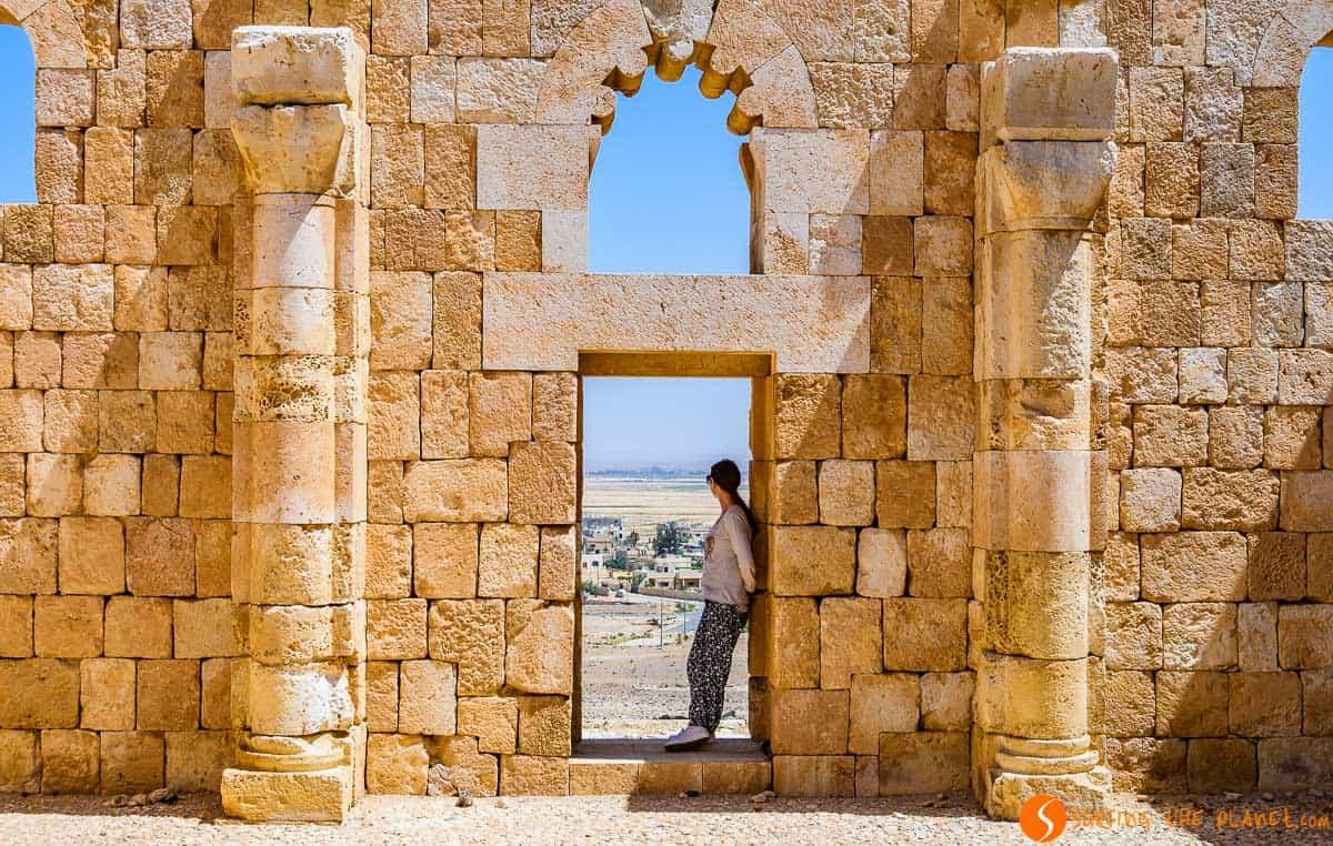 Puerta, Qasr Al-Hallbat, Jordania