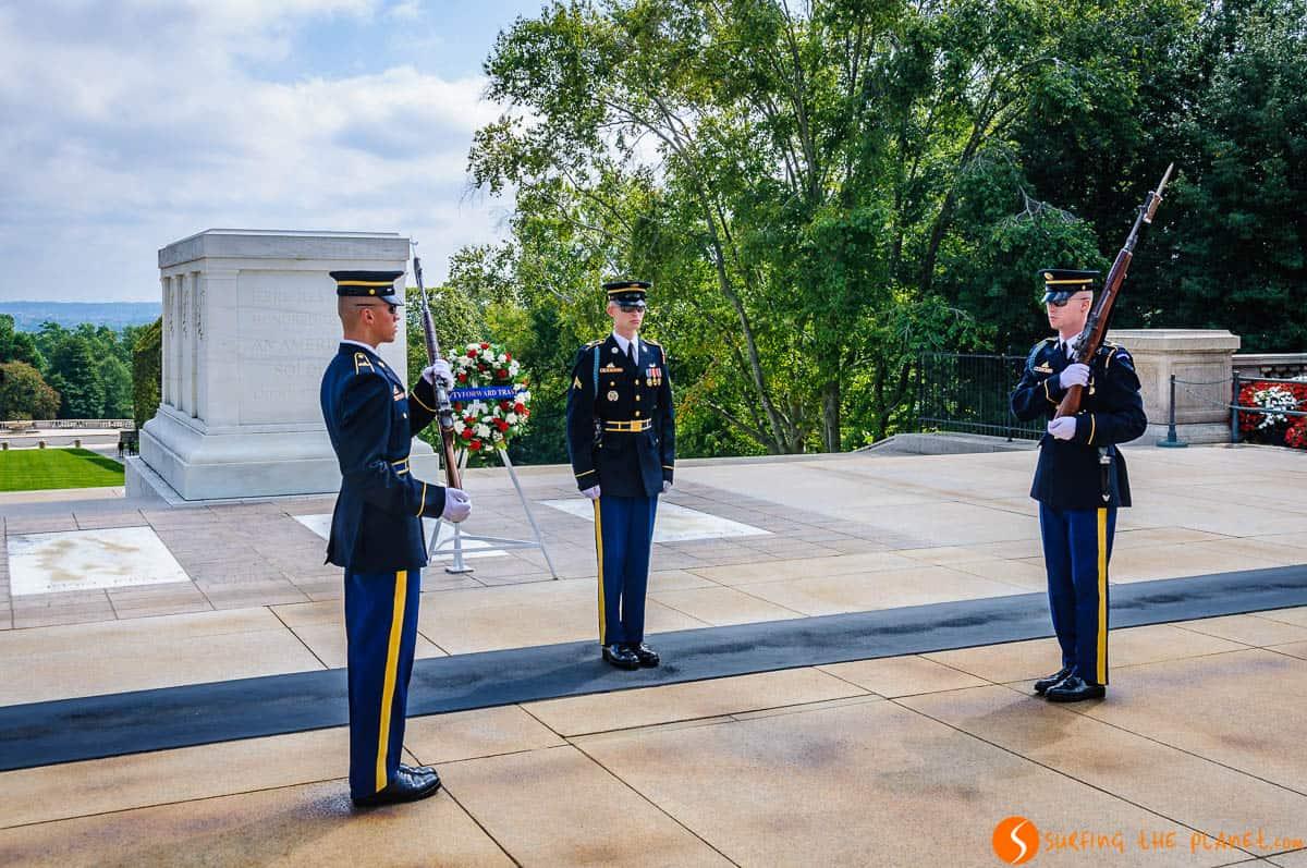 Cambio de guardia, Cementerio de Arlington, Washington DC, Estados Unidos | Qué visitar en Washington en 2 días