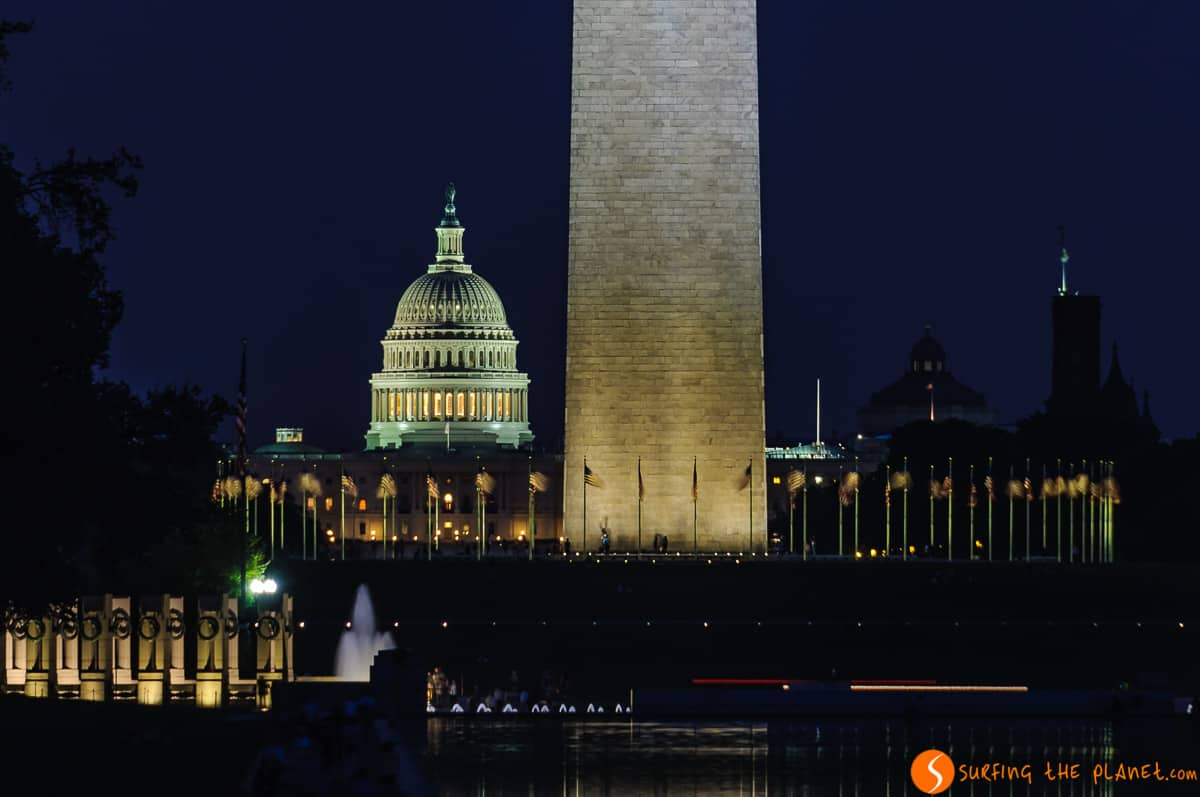 Capitolio por la noche, Washington DC, Estados Unidos |Itinerario por la Costa Este de EEUU