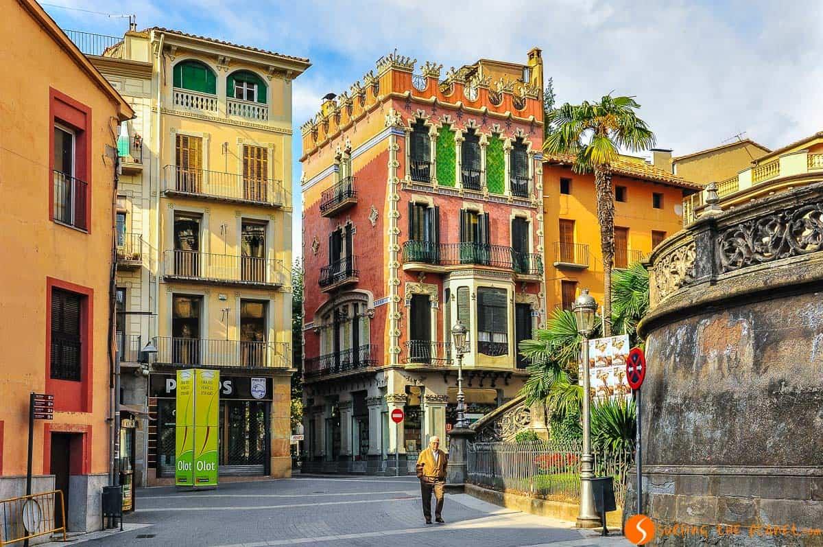 Casas modernistas, Olot, La Garrotxa, Cataluña