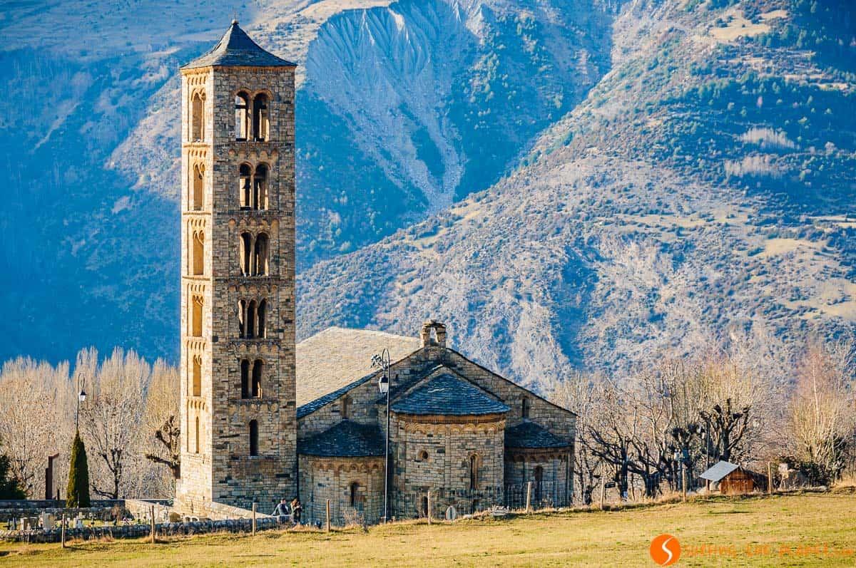 Exterior de Sant Ciment de Taüll, Vall de Boí, Cataluña | Ruta por las iglesias románicas de la Vall de Boí