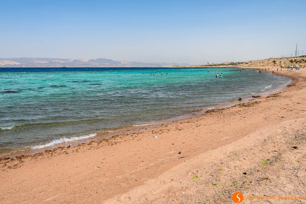 Playa del Mar Rojo, Aqaba, Jordania