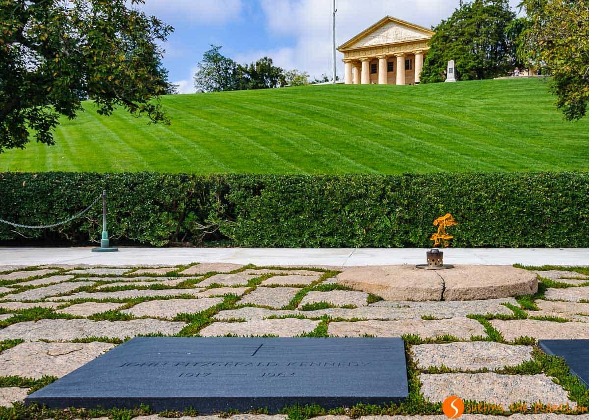 Tumba J. F. Kennedy, Cementerio de Arlington, Washington DC, Estados Unidos