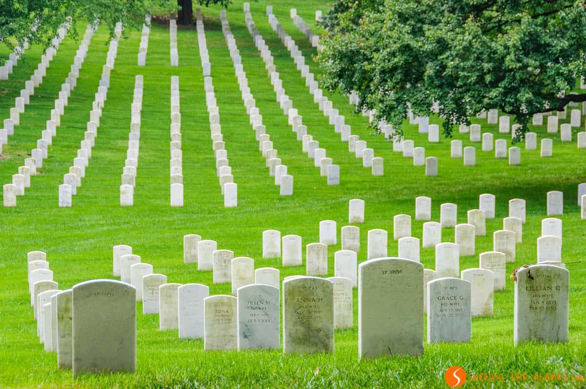 Tumbas blancas, Cementerio de Arlington, Washington DC | Viajar por la Costa Este de Estados Unidos