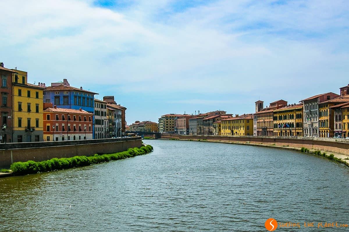 Vistas del Río Arno, Pisa, Italia | Qué visitar en Pisa
