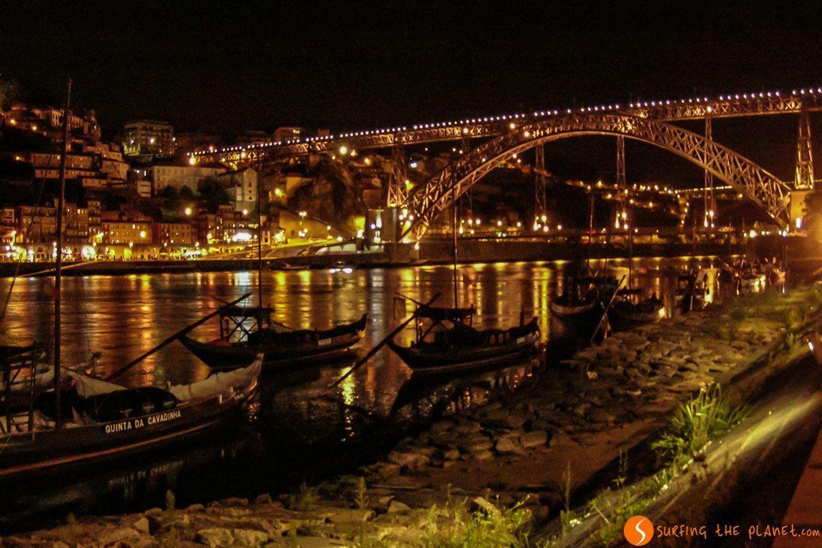 Luces nocturnas de la Ribeira, Oporto, Portugal | Qué ver en Oporto en dos días