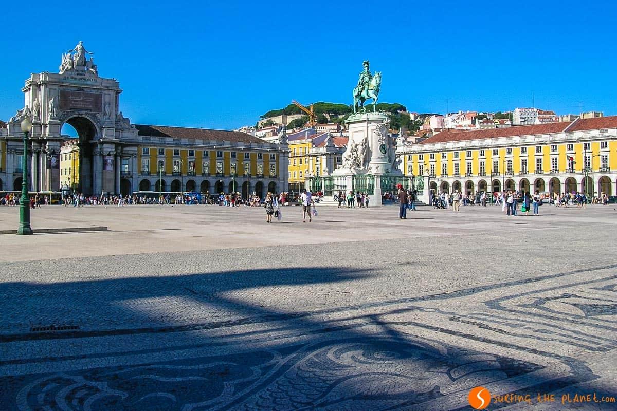 Main square, Lisbon, Portugal